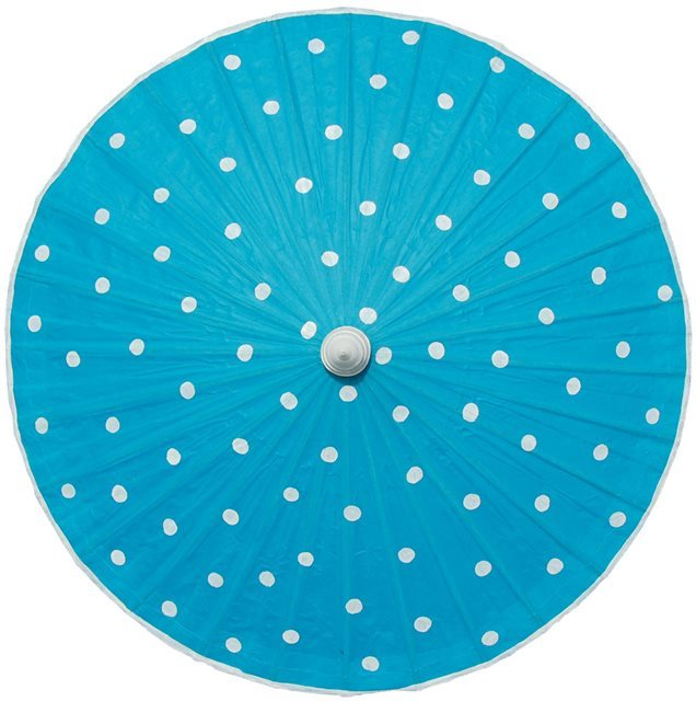 82cm sky blue - white spots - waxed cotton