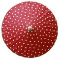 82cm red with cream spots - waxed cotton