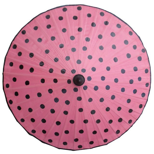 82cm Pink with Black.Spots- waxed cotton