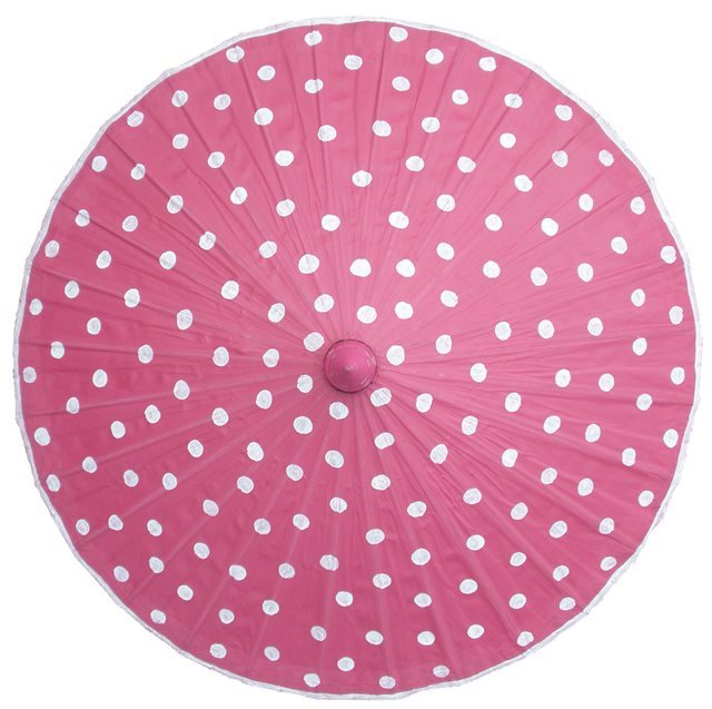 82cm pink - white spots - waxed cotton