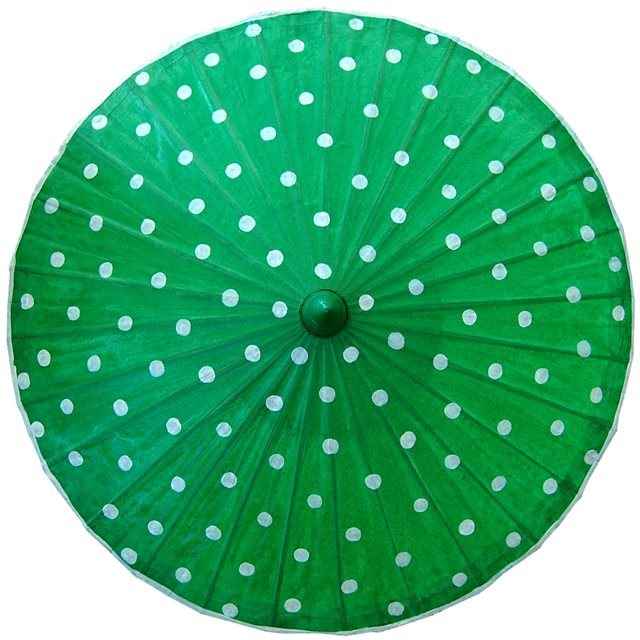 82cm green - white spots - waxed cotton