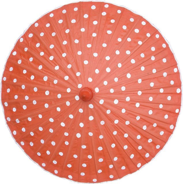 82cm Orange with White Spots- waxed cotton