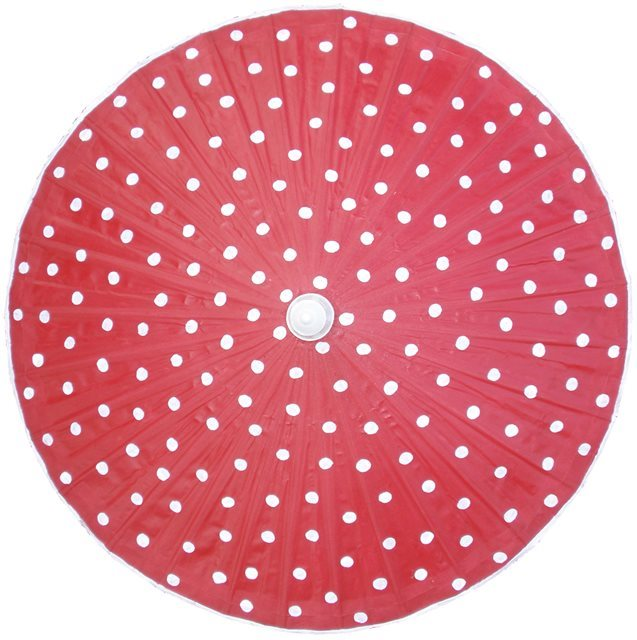 82cm Red - white spots - waxed cotton