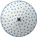 82cm white - navy spots - waxed cotton