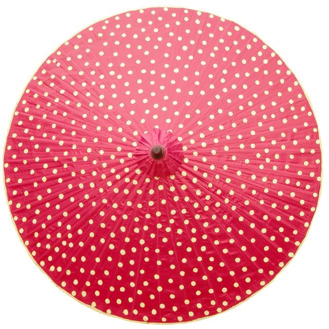 200cm red - cream spots