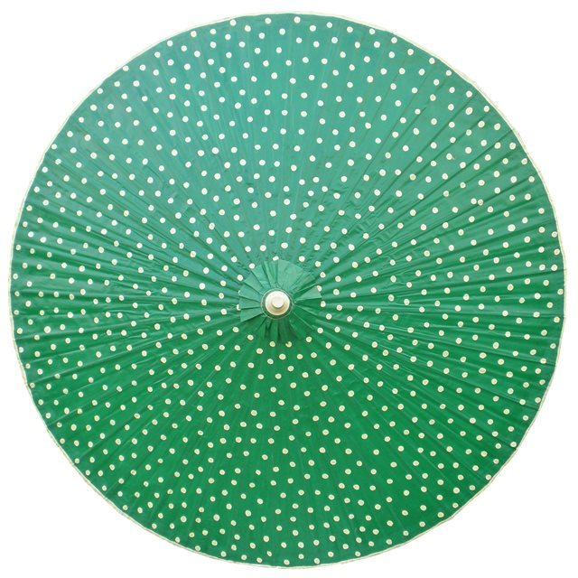 200cm Green with Cream Spots