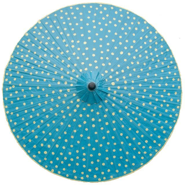 200cm Turquoise with Cream Spots