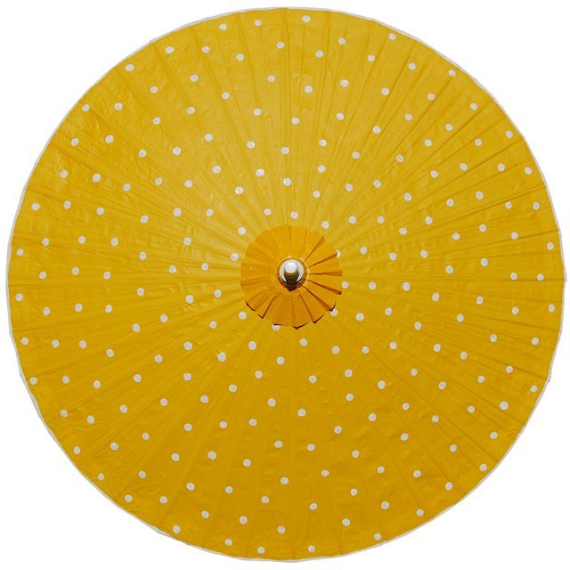 200cm yellow - white spots
